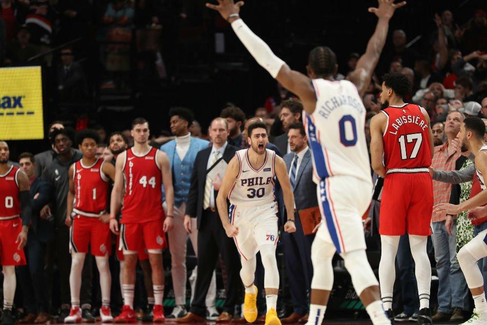 بسکتبال-پورتلند تریل بلیزرز-فیلادلفیا سونی سیکسرز-NBA Basketball